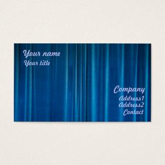 Blue drapes business card