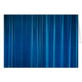 Blue drapes card