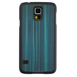 Blue drapes carved maple galaxy s5 slim case