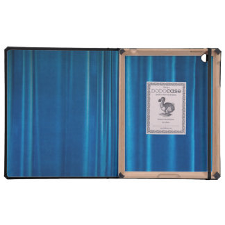 Blue drapes cover for iPad