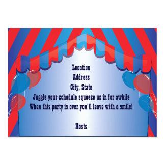 Blue Dreadlock Clown Party Celebration Invitation