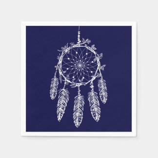 Blue Dream Catcher Native American Wedding Party Napkin