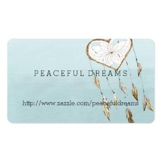 Blue Dream Catcher Watercolor Business Card