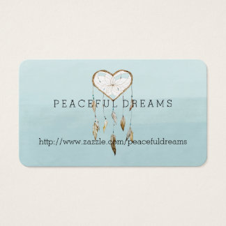 Blue Dream Catcher Watercolor Business Card