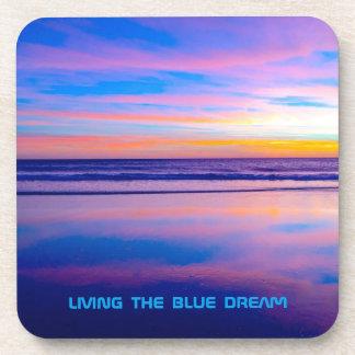 Blue Dream Sunset Santa Monica Coaster
