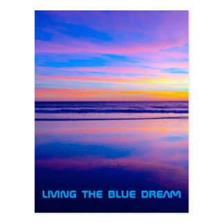 Blue Dream Sunset Santa Monica Postcard