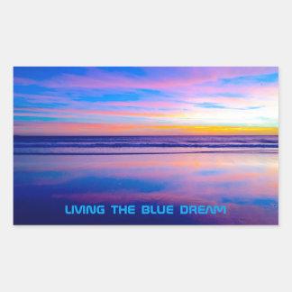 Blue Dream Sunset Santa Monica Rectangular Sticker