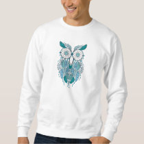 blue dreamcatcher owl sweatshirt