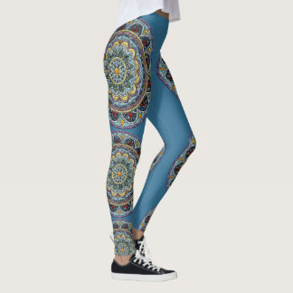 Blue Dreams Medallion Leggings