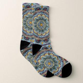 Blue Dreams Medallion Socks
