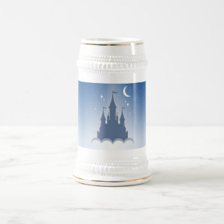 Blue Dreamy Castle In The Clouds Starry Moon Sky Beer Stein