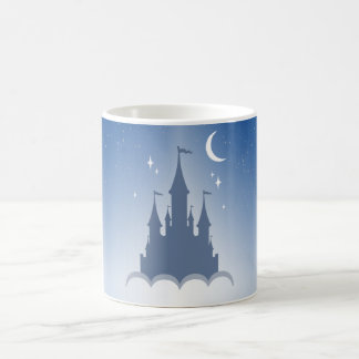 Blue Dreamy Castle In The Clouds Starry Moon Sky Coffee Mug
