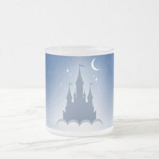 Blue Dreamy Castle In The Clouds Starry Moon Sky Mug