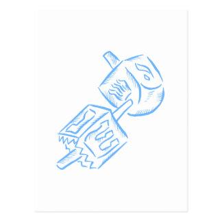 Blue Dreidel Postcard