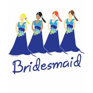 Blue Dress Bridesmaids T-shirt shirt