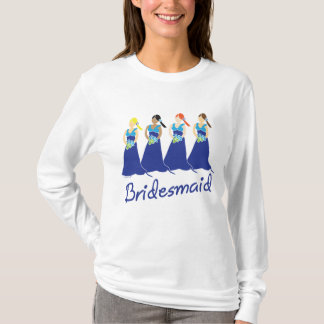 Blue Dress Bridesmaids T-shirt