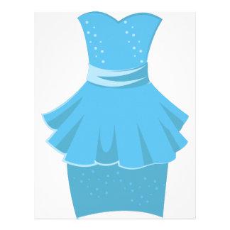 Blue Dress Letterhead