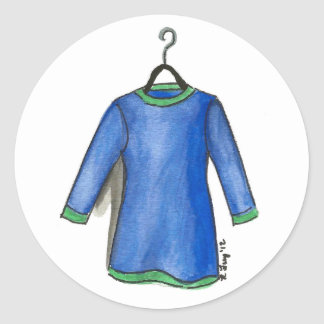 Blue Dress on Hanger Shopping Fashionista Stickers