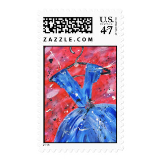 Blue Dress Postage