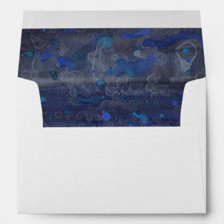 Blue Drizzle Envelope
