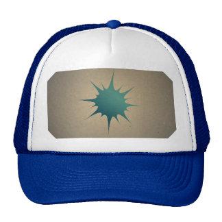 Blue Drop of Water on Retro Vintage Sepia Trucker Hat