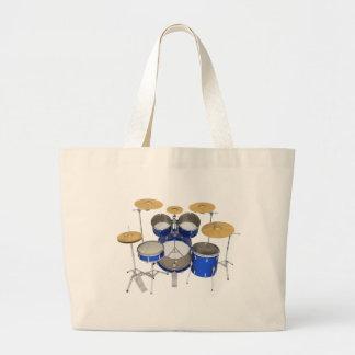 Blue Drum Kit: Tote Bag