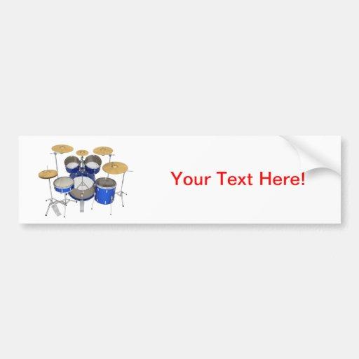 Blue Drum Kit: Bumper Sticker