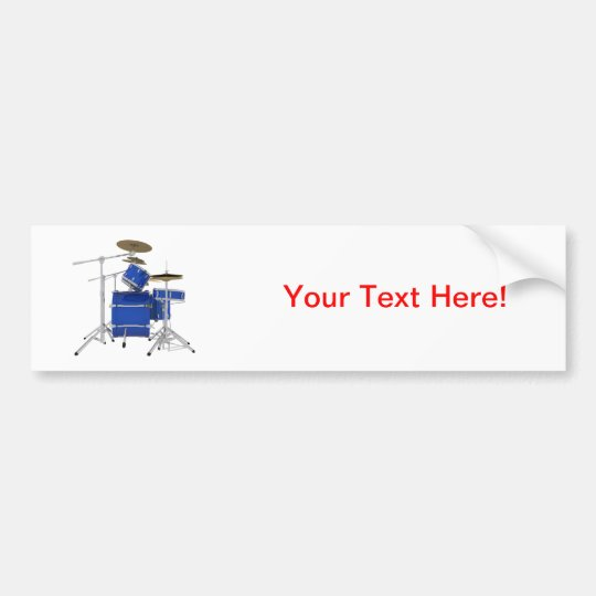 Blue Drum Kit: Bumper Sticker