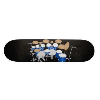 Blue Drum Kit Illustration: Custom Skateboard