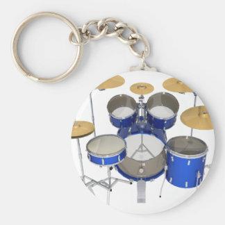 Blue Drum Kit: Key Chain