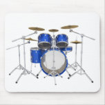 Blue Drum Kit: Mouse Pad