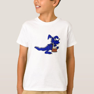 Blue Drummer Dragon T-Shirt