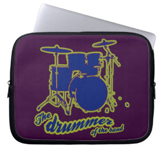 blue drummer of the band laptop sleeves