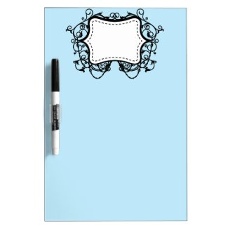 Blue Dry Erase Board