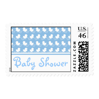 blue duck row baby shower stamp postage