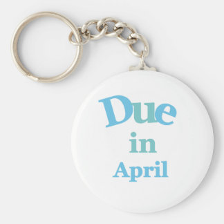 Blue Due in April Keychain