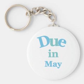 Blue Due in May Keychain