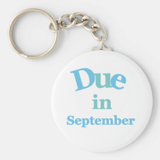 Blue Due in September Keychain