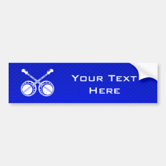 Blue Dueling Banjos Bumper Sticker