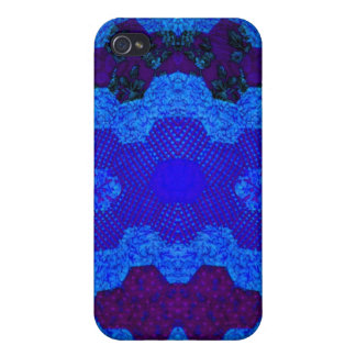Blue Dumbell Quilt Cover For iPhone 4