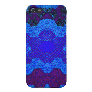 Blue Dumbell Quilt Cover For iPhone SE/5/5s