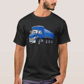 Blue Dump Truck 10w Cartoon T-Shirt