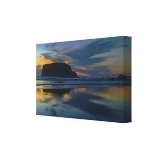 Blue Dusk - Pacific Sunset at Bandon, Oregon Canvas Print