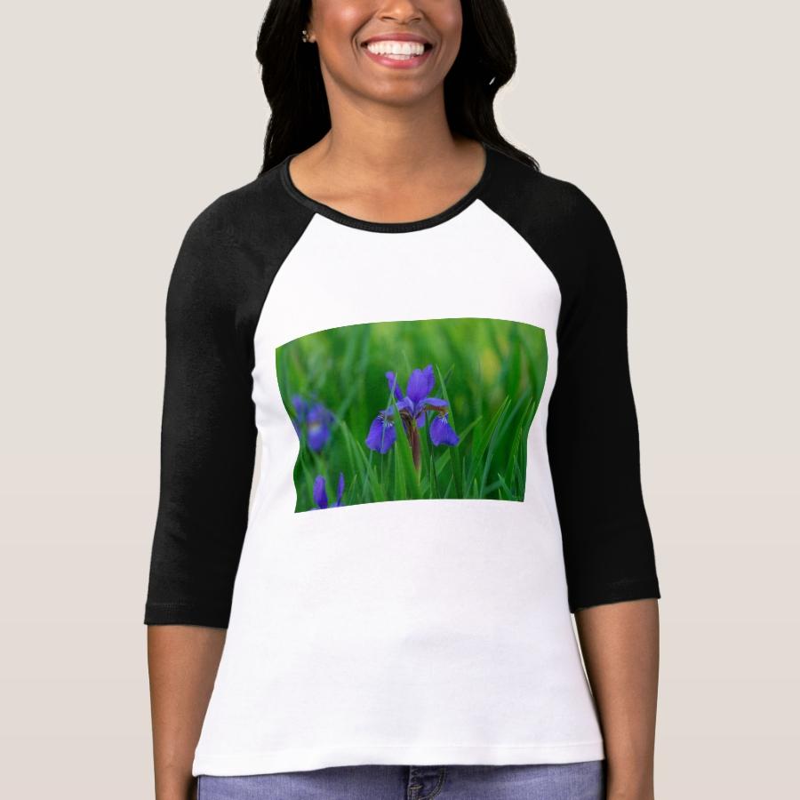 Blue Dutch Among Leaves T-Shirt - Best Selling Long-Sleeve Street Fashion Shirt Designs
