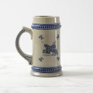 Blue Dutch Knight Vintage Beer Stein