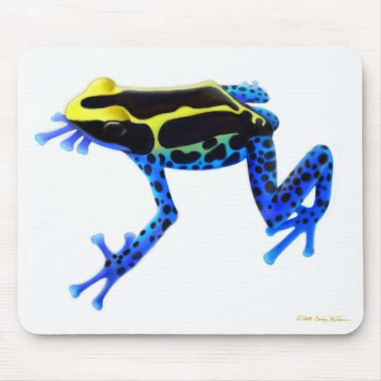 Blue Dyeing Poison Dart Frog Mousepad