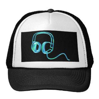 Blue Earphones Hats