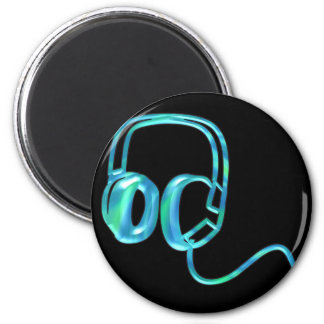 Blue Earphones Magnet