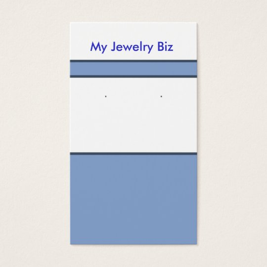 Blue Earring Cards