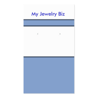 Blue Earring Cards Business Card